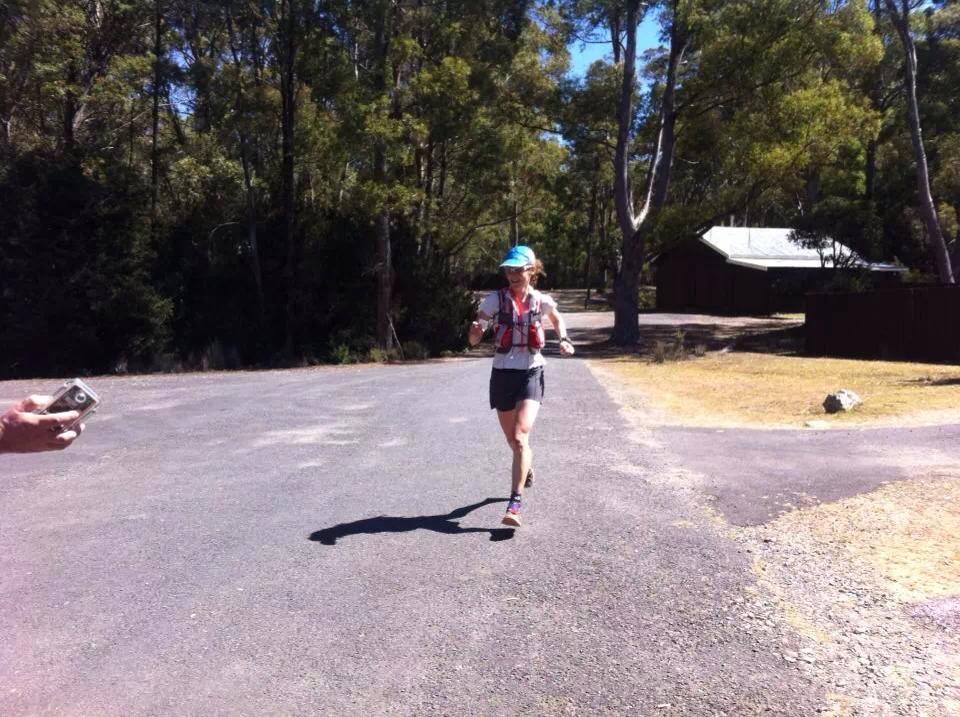Gill at finish Cradle Mtn Run